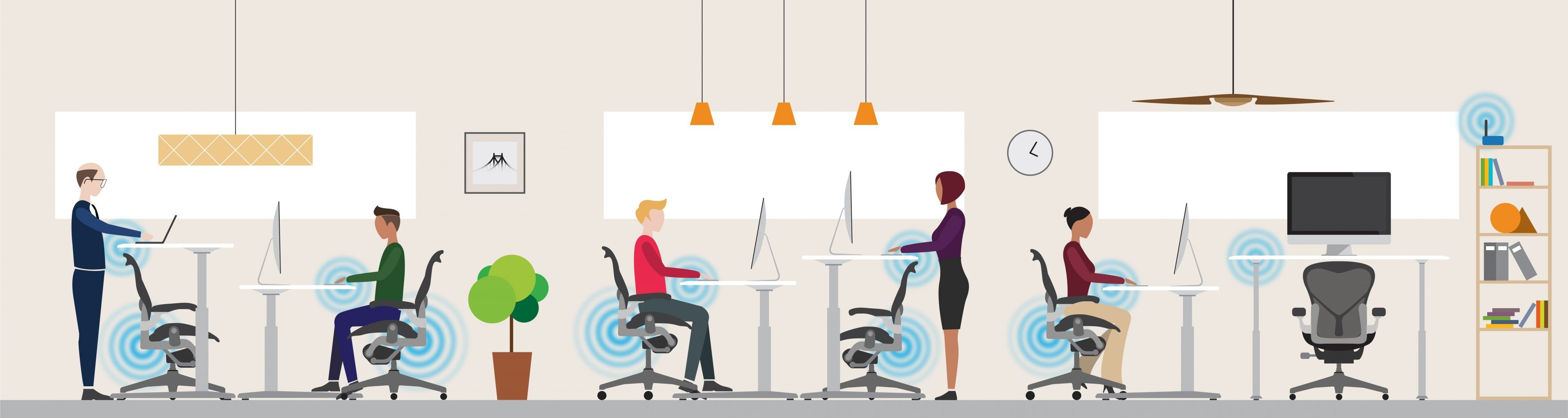 Innovating for employee wellbeing: one connected chair and desk at a time